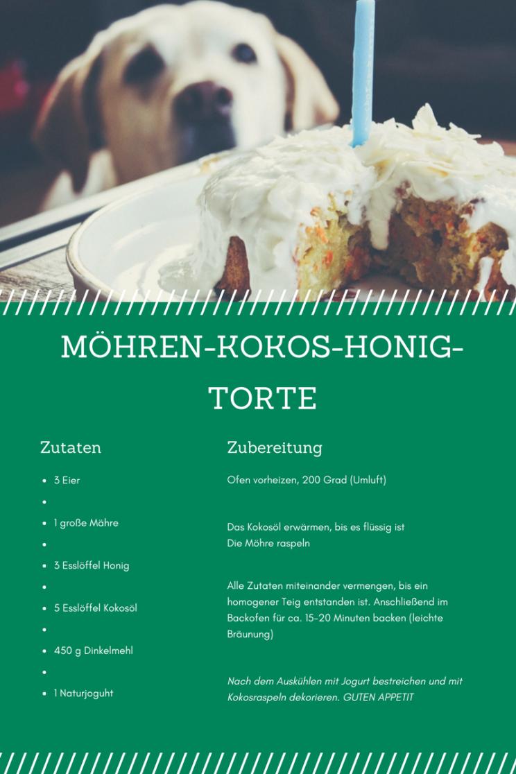 Hundetorte m Hundegeburtstag m Möhren-Kokos-Honig-Torte